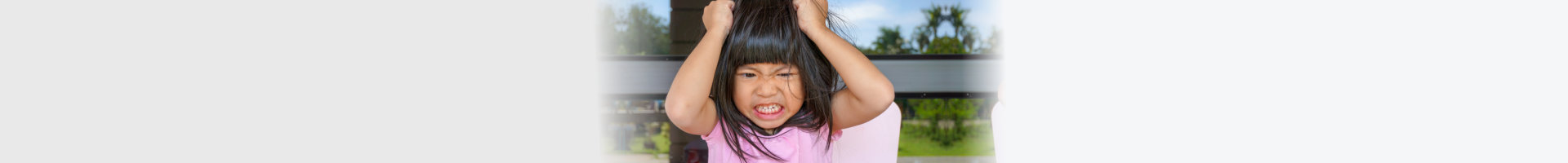 little girl getting angry